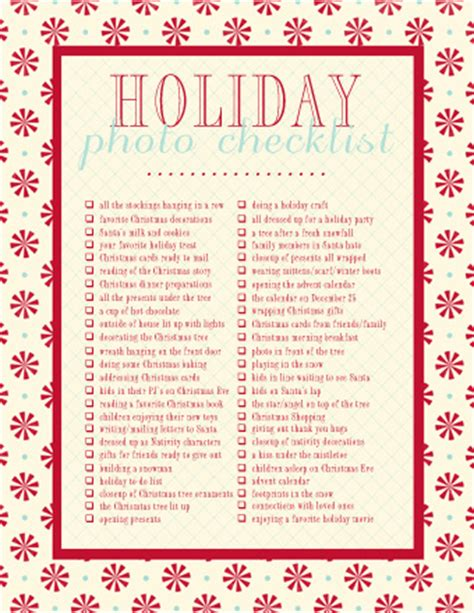 christmas photo traditions holiday photo checklist