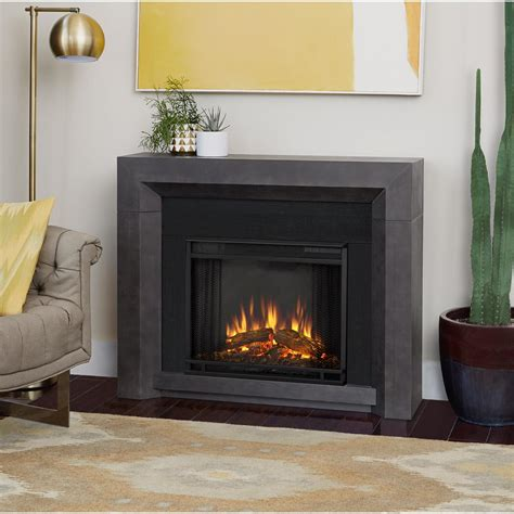 40860 modern grey fireplace real 48 in electric fireplace in white 7100e