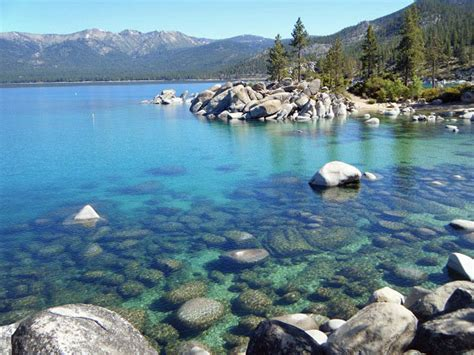 Skiff Lake Rocks by Jeanne Daughters Touring Lake Tahoe Without