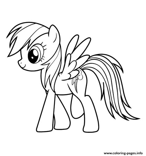 Mlp Coloring Pages Rainbow Dash Many Interesting Cliparts
