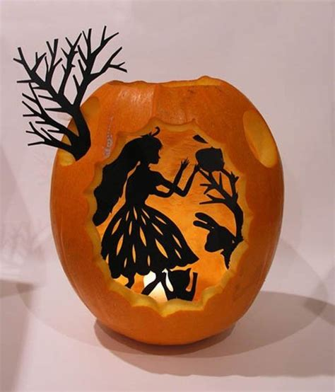 Halloween Silhouette Pumpkin Carving Ideas