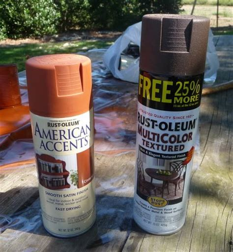 rust colored spray paint ahl cooped up primitive can tutorial