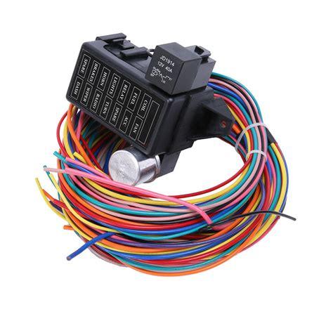 Circuit Basic Wire Harness Fuse Box Street Hot Rat Rod