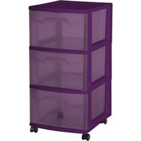 sterilite 3 drawer wide cart purple pearl tint storage