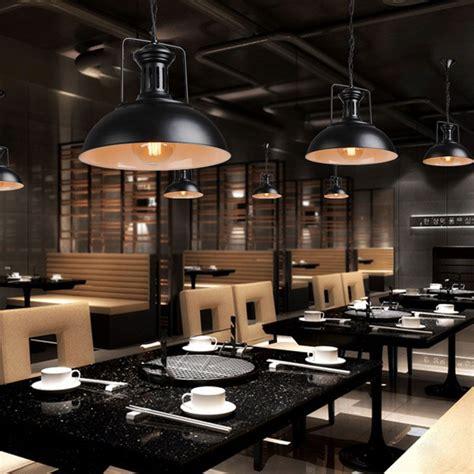 eclairage bar cuisine edison vintage industrielle abat jour chaîne pendentif