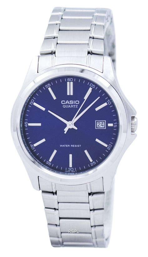 Casio Quartz Mtp 1183a casio quartz analog stainless steel blue mtp 1183a