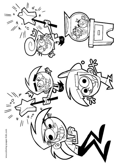 oddparents color page coloring pages  kids cartoon characters coloring pages