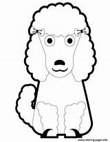 Poodle Coloring Puppy Cartoon Printable Poodles Pretty Template Clipart Miniature Cliparts Clip Templates Library Popular sketch template