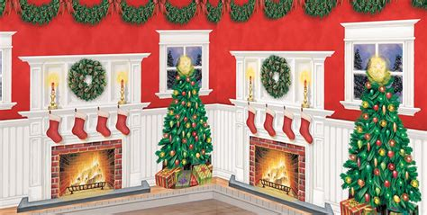 christmas scene setters christmas themed vinyl wall decorations party city
