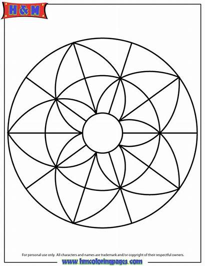 Mandala Coloring Simple Easy Pages Geometric Colouring