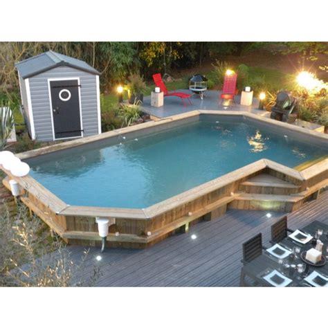travaux piscine bois semi enterrée leroy merlin