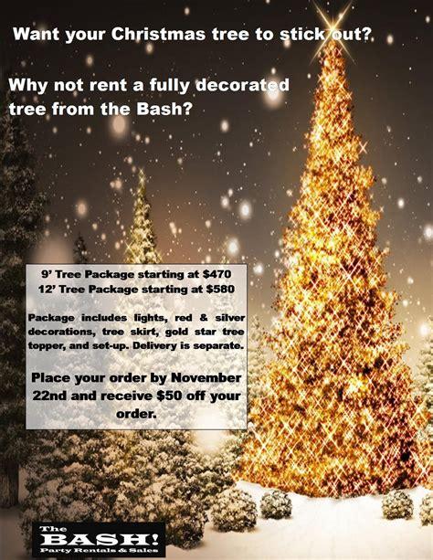 christmas tree rental promo flyers christmas