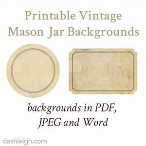 free vintage mason jar label downloads and templates With 4 oz mason jar label template
