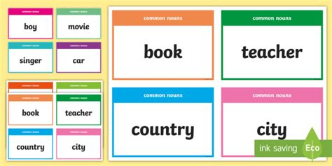 common  proper nouns card game activity english twinkl