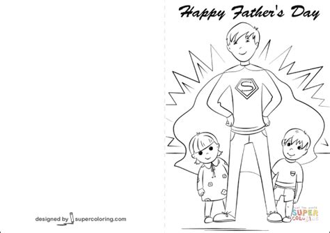 Happy Father's Day Card Coloring Page