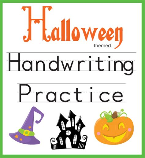 handwriting practice halloween themed  beautiful home