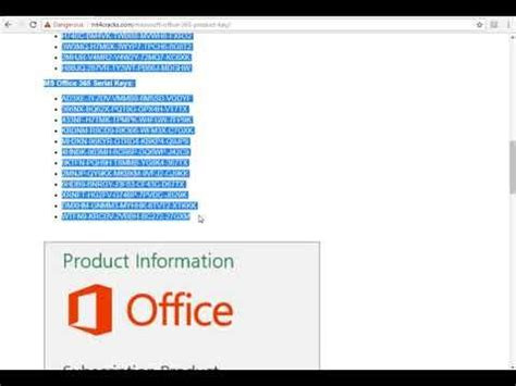 Office 365 Activation Key by Microsoft Office 365 Product Key Updated Working