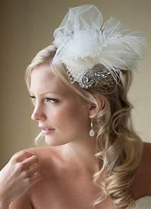Bridal Fascinator Bridal Hat Feather Wedding Hair Accessory