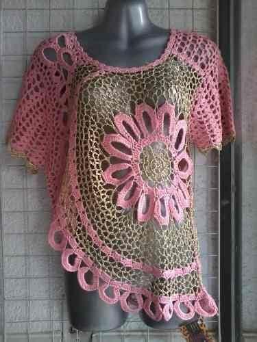 blusa flor tejida moda crochet gancho tejidos en crochet and moda