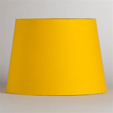 yellow drum l shade yellow silver embossed table l shade world market