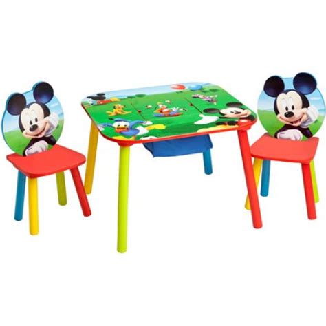 disney mickey mouse storage table and chairs set walmart