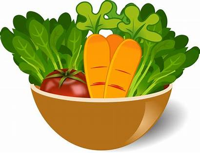 Vegetable Clip Clipart Bowl Dish Icons Fruits