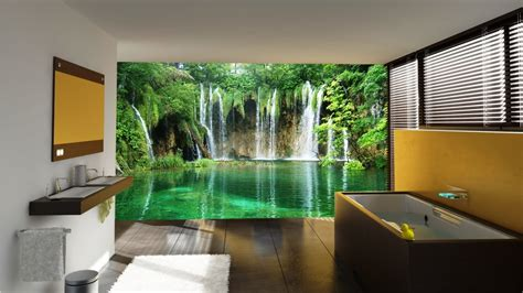 interior decorations home luxurious bathroom wall murals with additional interior