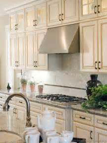 backsplash ideas for white kitchen cabinets antique white kitchen cabinets casual cottage