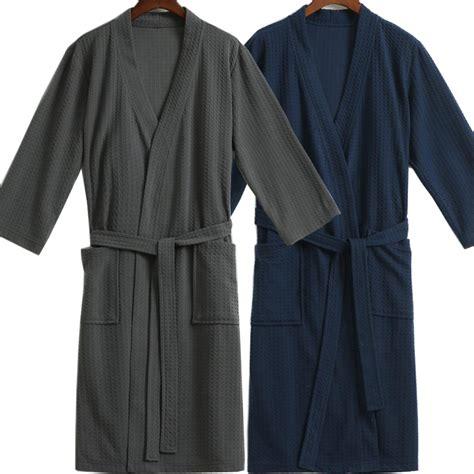 aliexpress com buy men waffle bath robe suck water