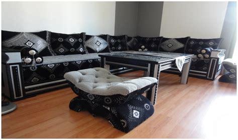 des modèles de salon marocain 2016 en bois noir salon