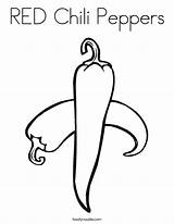 Coloring Chili Peppers Cili Pepper Outline Built California Usa Twistynoodle Popular sketch template