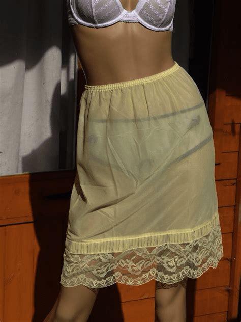AUTHENTIC 1960 S SILKY NYLON HALF SLIP SIZE - WOMENS WAIST ...