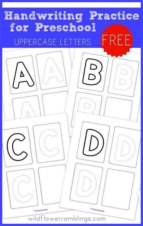 preschool handwriting practice uppercase free printables wildflower ramblings