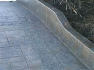 Color Stamped Concrete Driveway