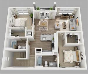 20 Designs Ideas For 3D Apartment Or One Storey Three