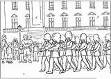Coloring Guard Changing Pages London Colouring Palace Buckingham Queen sketch template