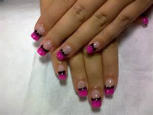 Purple and black cool nail designs