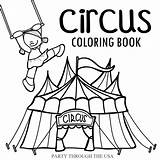 Circus Coloring Themed Usa Trip Road Printable Did Week Last Showman Greatest Homeschooling Planning Learning Had Been Through Travel sketch template
