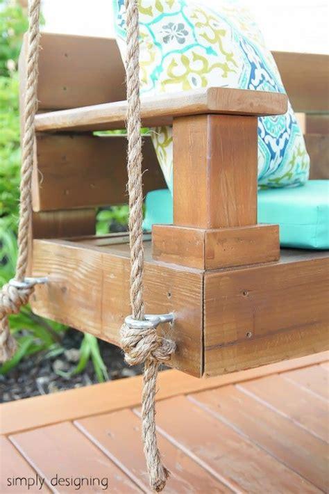 diy   build  porch swing hangende stoelen