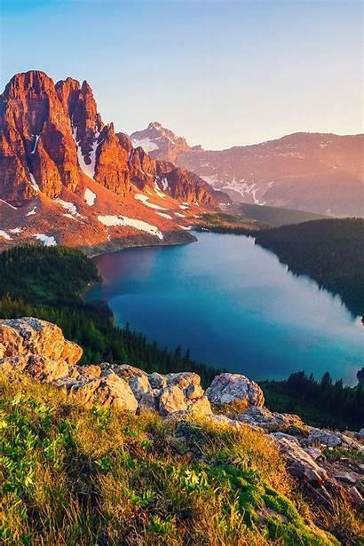Columbia Canada British Mountain Lake Iphone Background