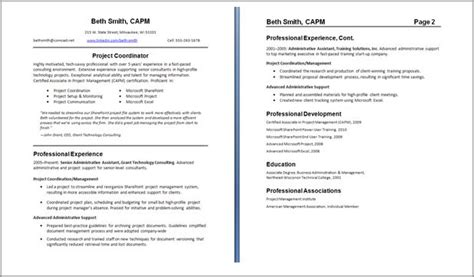 Staple Resume Pages Together by Resume Exles Best Two Page Resume Format Free Two
