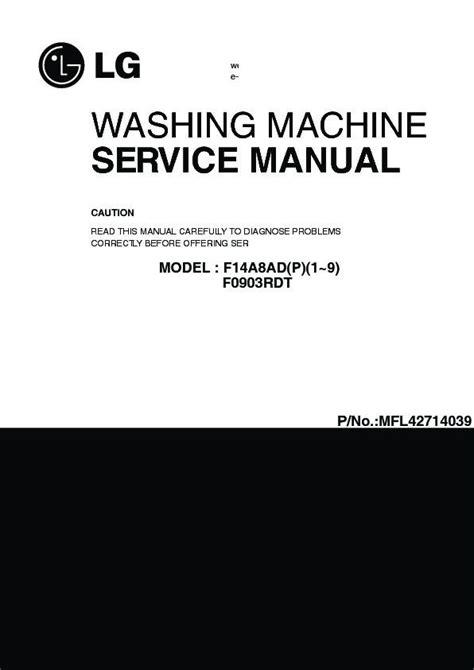 lg wd adp service manual view    repair manual