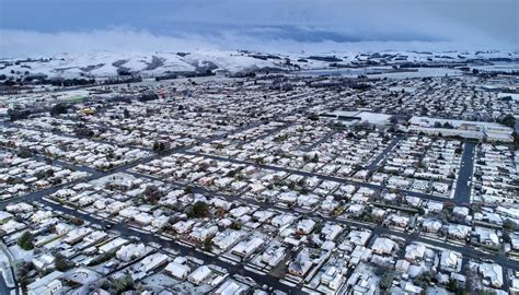 weather drone footage captures south island town  gore