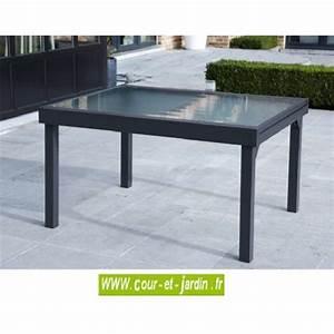 Table De Jardin Grise : table de jardin modulo 6 10 135 270 grise ~ Teatrodelosmanantiales.com Idées de Décoration