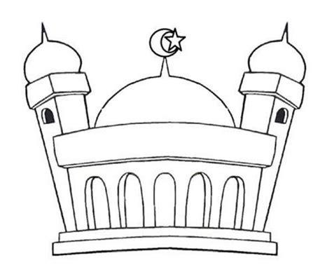mewarnai gambar masjid kartun
