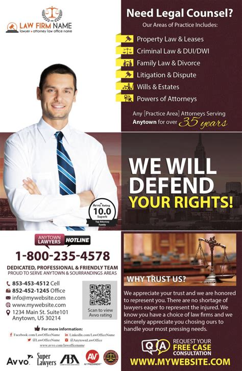 attorney flyer printing law firm flyer printing lawyer