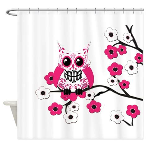 Owl Bathroom Accessories Canada by Pink White Sugar Skull Owl Shower Curtain By