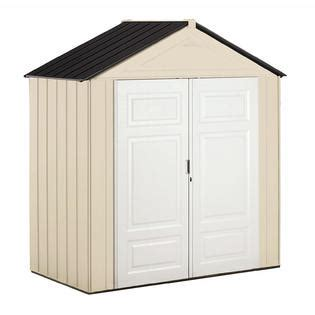 resin storage sheds on sale rubbermaid 1821749 7 x 4 storage shed