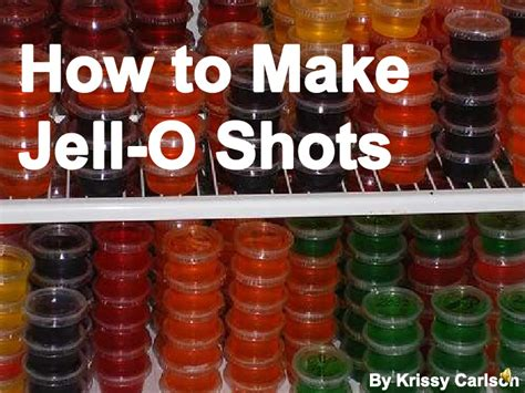 how to make jello how to make jello shots