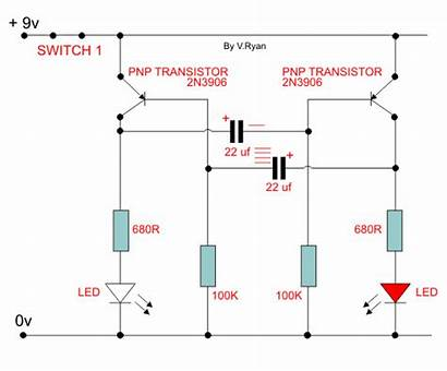 Circuit Multivibrator Transistor Switch Capacitor Capacitors Charge